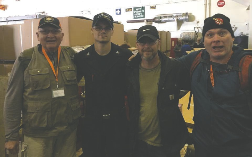 Pictured (l. to r.) are Tiger Cam Jayson, Sailor Zach Jayson, Tiger Chris Holms and Tiger Sean Jayson.