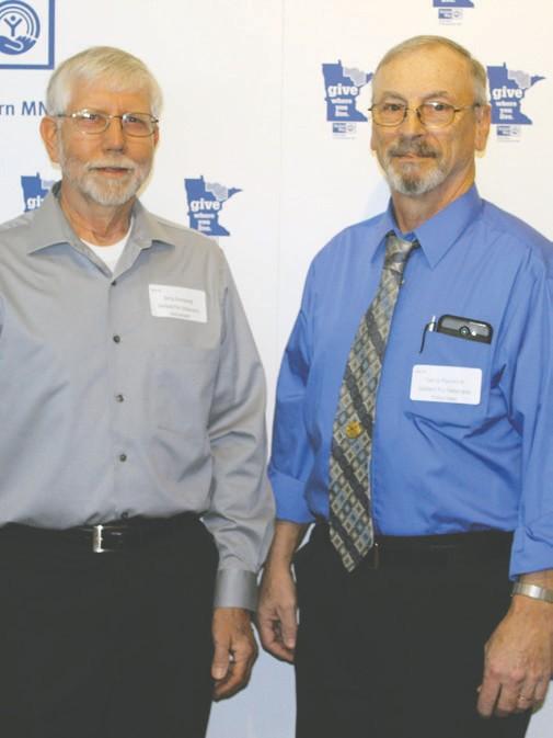 Jerry Forsberg (left) and Larry Pocrnich Lifesaver Award winners
