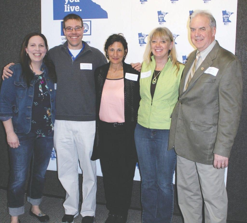 United Taconite was a Campaign Award winner. Pictured (l. to r.) are Sheri McGregor, Dave Schneider, Michele Coldagelli, Connie Larson and Mike Norton.