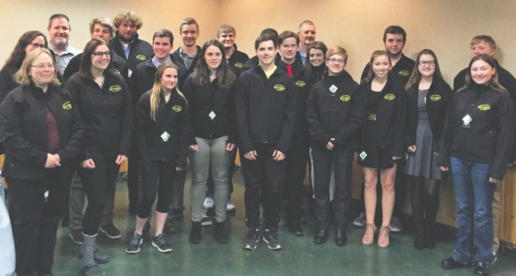 Area high school seniors and teachers were recently recognized by the Range Engineering Council for their efforts in STEM courses and activities. Submitted photo.