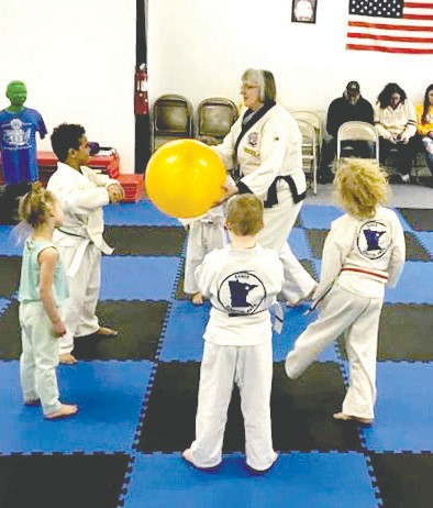 Ramona Wickstrom teaches the Tiny Tigers at Range Martial Arts recently. Submitted photos.