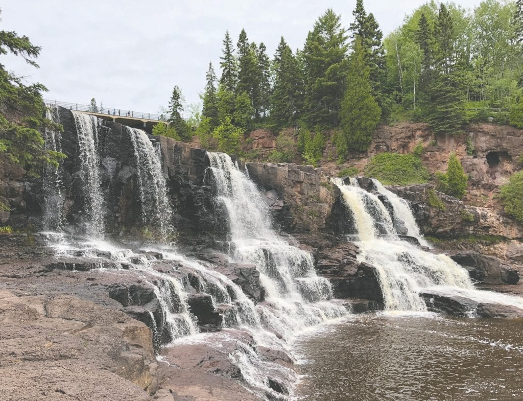 Gooseberry Falls State Park on the North Shore of Lake Superior. Pictured are the middle falls, the craziest area of the park where many climb, take photos, play in the river, and watch in awe as the water rushes down the rocks. Submitted photos.