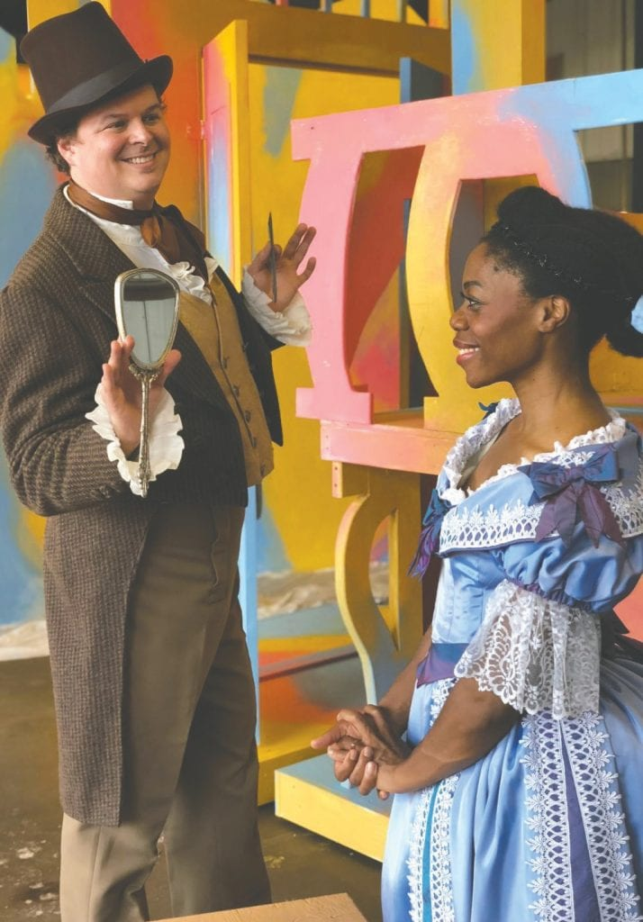 Baritone Sean Anderson and soprano Chrystal E. Williams have major roles in Northern Lights Music Festival's production of The Barber of Seville. Submitted photos.