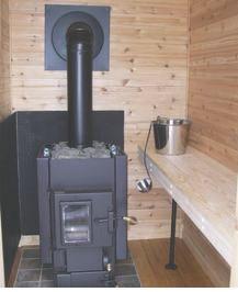 A Lamppa sauna stove. Photo courtesy of IRRR.