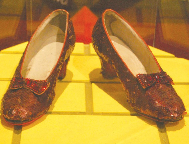 Ruby slippers on display at the Smithsonian National Museum of American History. Source: Wikipedia