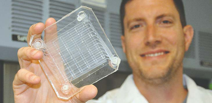 Researchers strive to make 3D-printed artificial lung to help vets with respiratory disease. Submitted photo.