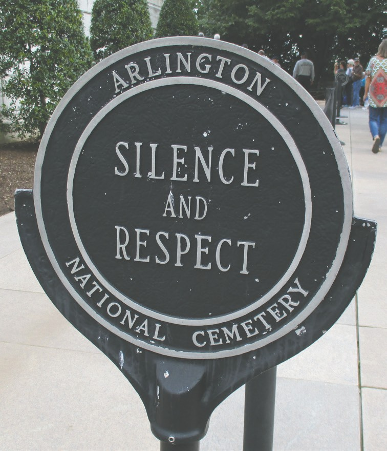 Silence and respect are encouraged at Arlington.