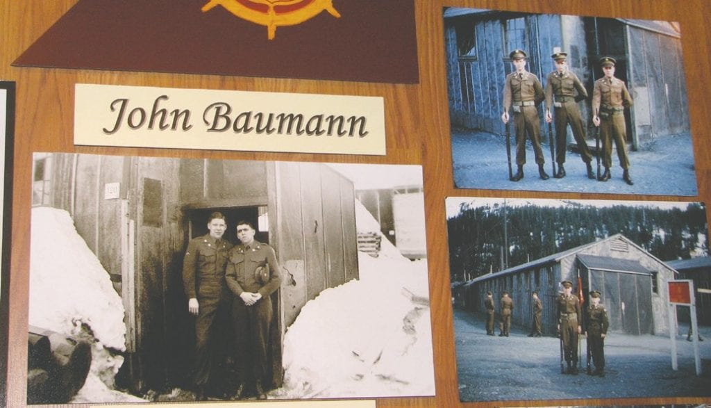 Servicemen in Whittier had to deal with the deep snow in winter. Pastimes included guard duty, loading and unloading ships, marksmanship practice, baseball, bowling and playing cards.