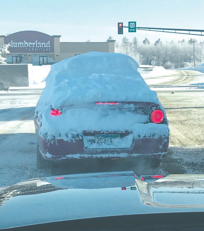 This is what NOT to do after a heavy snowfall. Submitted photo.Think safety during winter driving