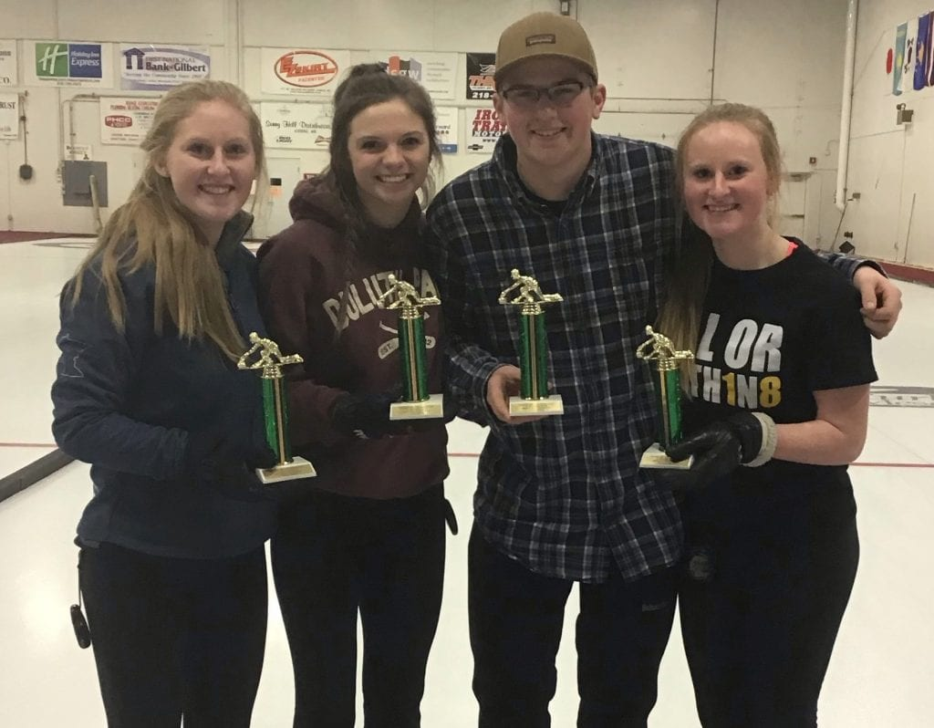 Competitive Division, Main Event winner: Sara Olson (Duluth), Maggie Payette, Jake Zeman and Jessica Olson. Submitted photos.