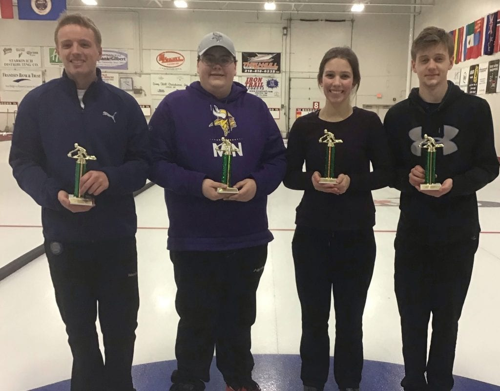Competitive Division, Main Event runner-up: Bryce Wainio (Curl Mesabi), Max Grabowski, Madeline Potts and Ben Pettinelli.