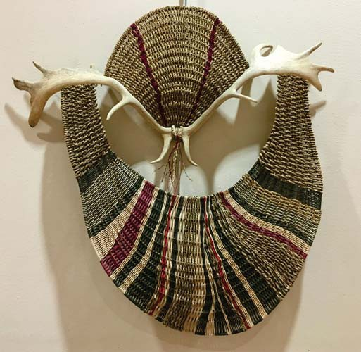 Silent Whispers from the East, a wall basket sculpture by Cathryn Peters, is part of the Duluth Art Institute's current juried artwork exhibit (Jan. 24 through April 15, 2019). Submitted photo.