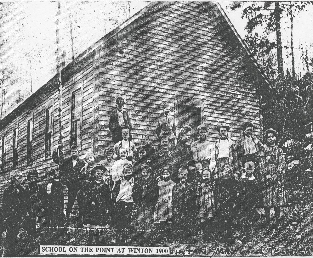 School on Winton Point in 1900. This is how the building looked originally. Submitted photos.