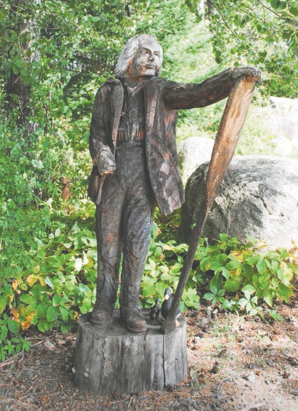 A statue of Dorothy Molter at the Dorothy Molter Museum in Ely. Photo by Jody Rae.