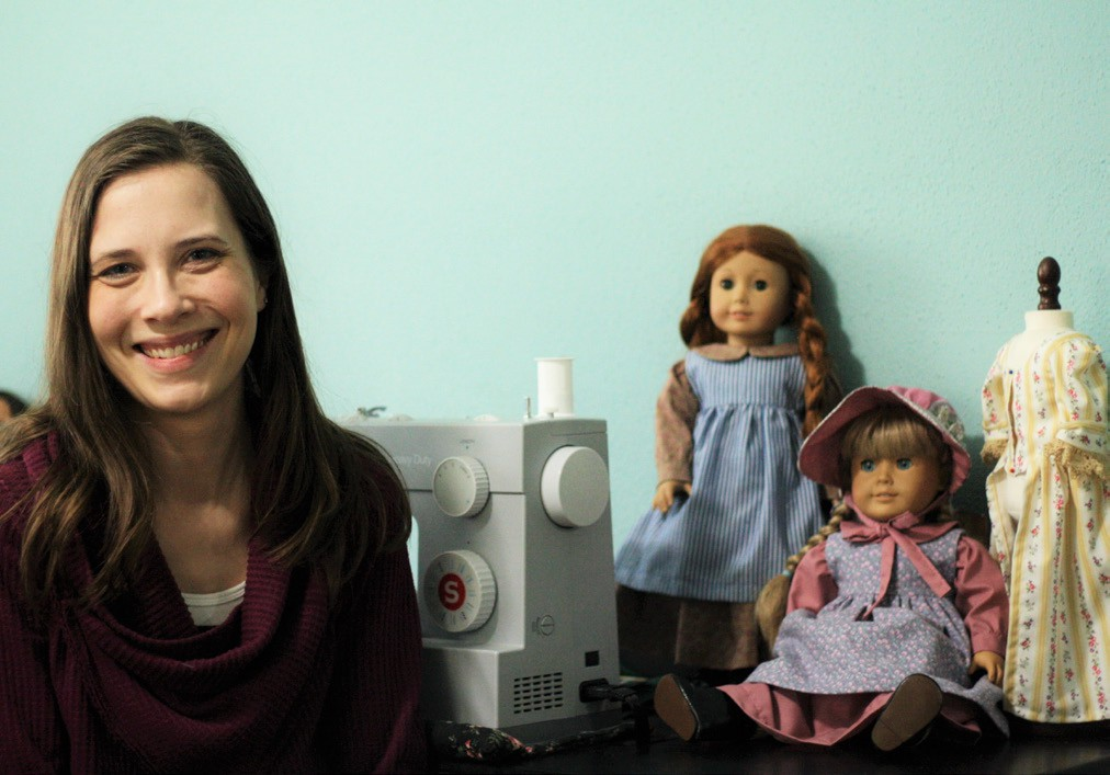 Sarah Samson sews and sells historical, literary-themed, modern, and timeless doll fashion designs in her Etsy store.