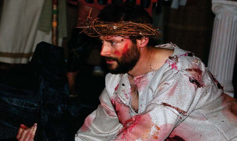 Steve Mekkes of Hibbing plays Jesus in the musical drama presented by Chisholm Baptist Church with performances on Wednesday-Friday, April 17-19 at 7 p.m. each day. Submitted photo.