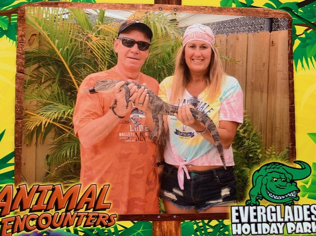 Dana and Jeff celebrated their 15th wedding anniversary and also enjoyed a visit to the Everglades while in Florida.