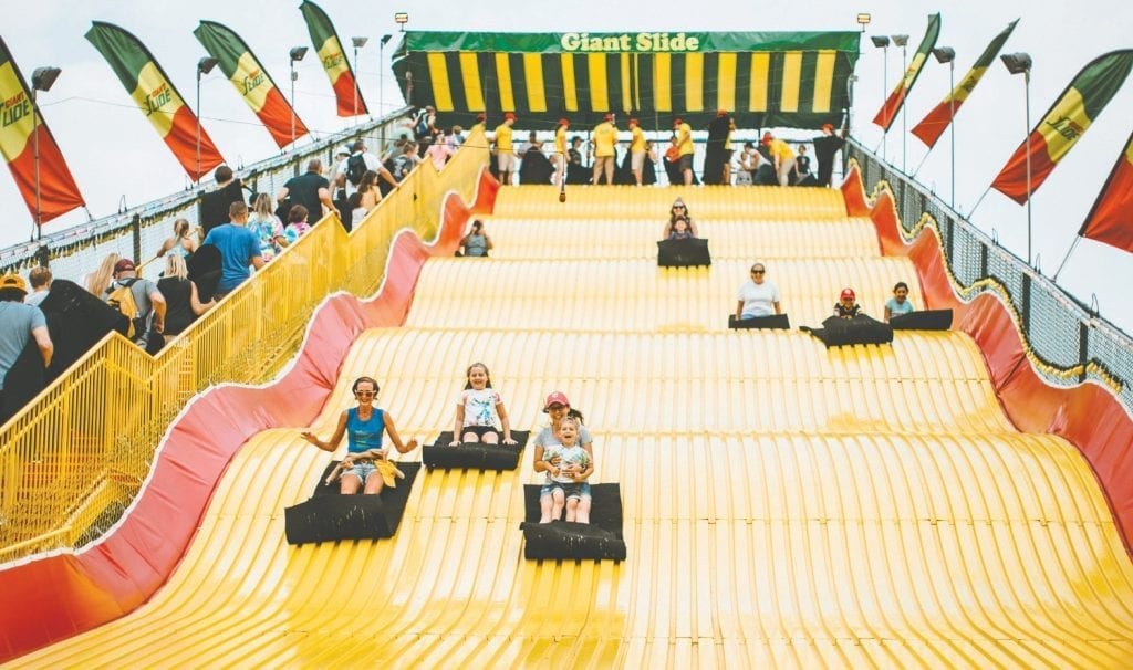 The iconic five-story Giant Slide celebrates its 50th anniversary at the 2019 Minnesota State Fair.