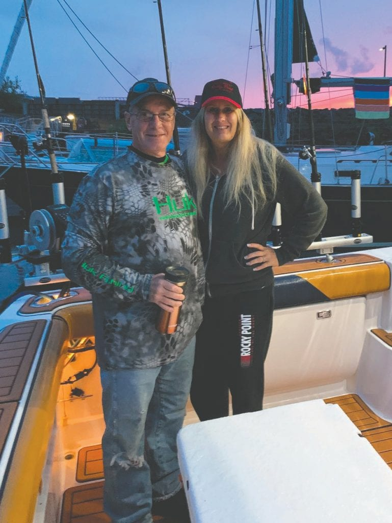 Sunrise aboard the Kingfisher with Dana and Jeff Submitted photos