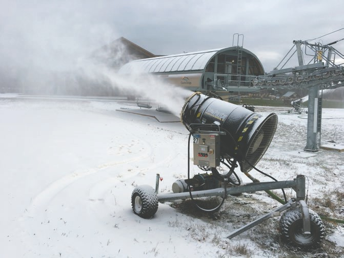 Snowmaking season is underway at Giants Ridge. The targeted opening date of the season is Friday, Nov. 29. Photo courtesy of Giants Ridge.