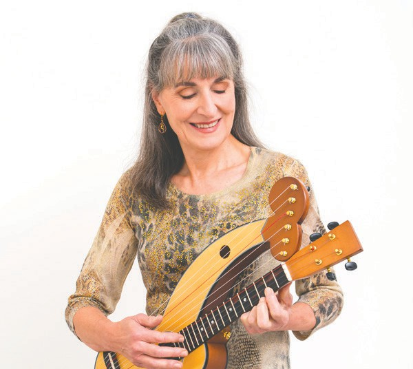 Christina Cotruvo will play and discuss the Ukrainian harp ukulele at December library programs. Submitted photo.