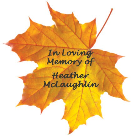 The memorial leaf in honor of my niece on the wall-tree at Precious Paws Humane Society of Chisholm.