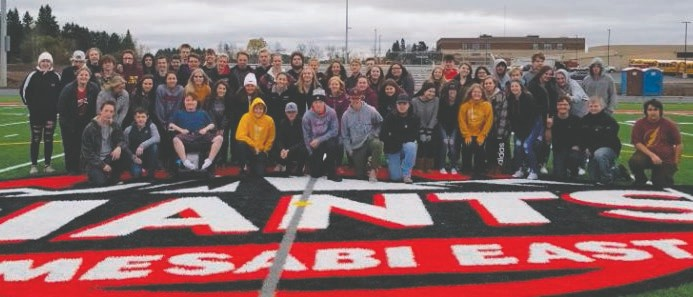 The Mesabi East School 2020 graduates. Submitted photo.