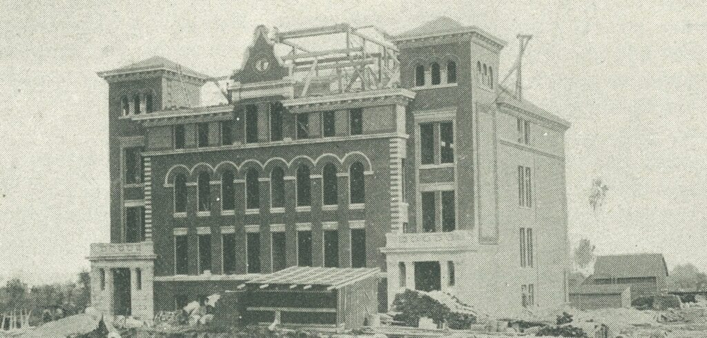 Nashwauk's new (as of 1909) school cost $60,000. Images courtesy of the Virginia Area Historical Society.