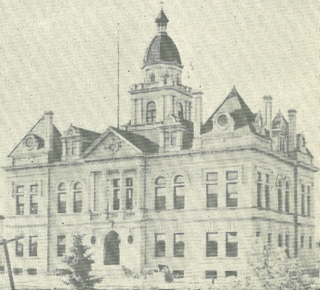 The old Itasca County Courthouse was built in 1894 two blocks south of the current courthouse.