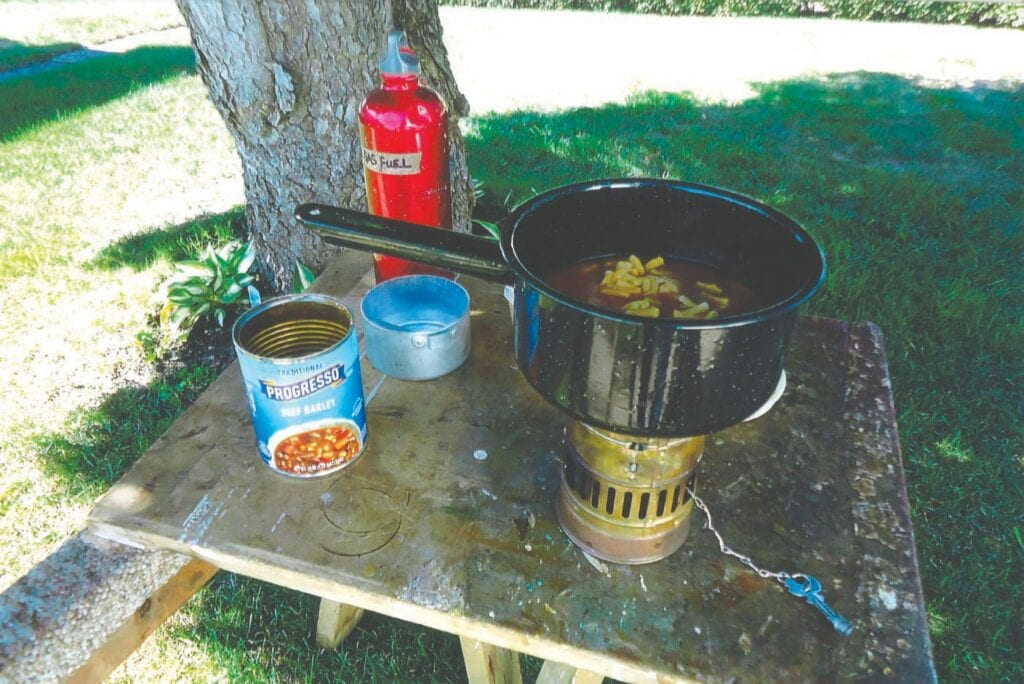 When life gave Doug lemons (a power outage) on September 10, he made lemonade (a backyard meal with his camping stove). Submitted photo.