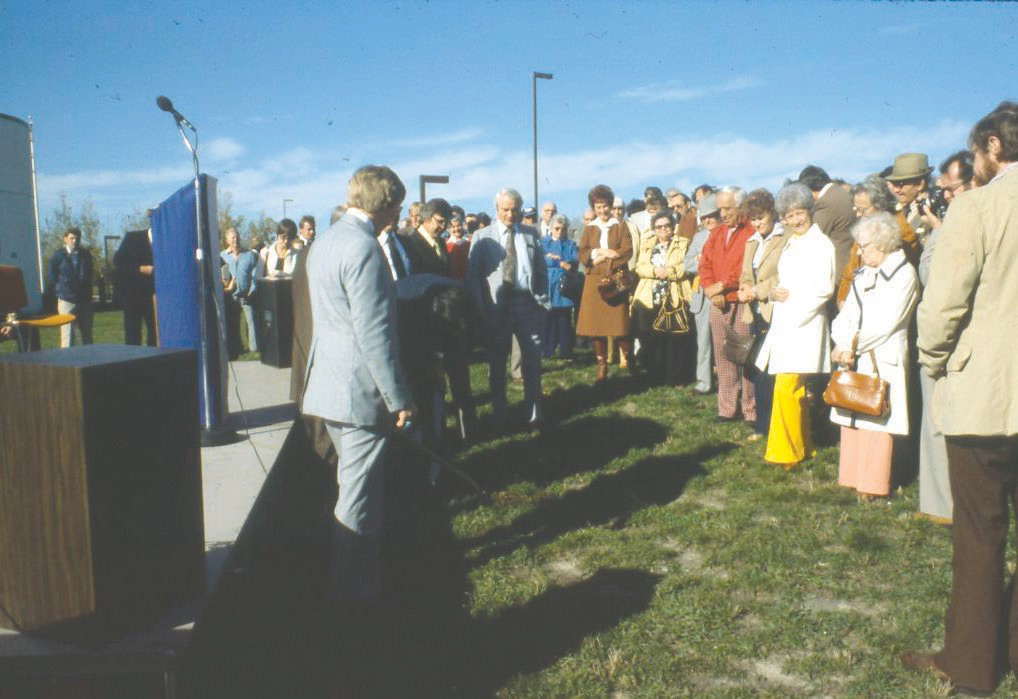 Governor Rudy Perpich at the IRRC groundbreaking ceremony in 1978.