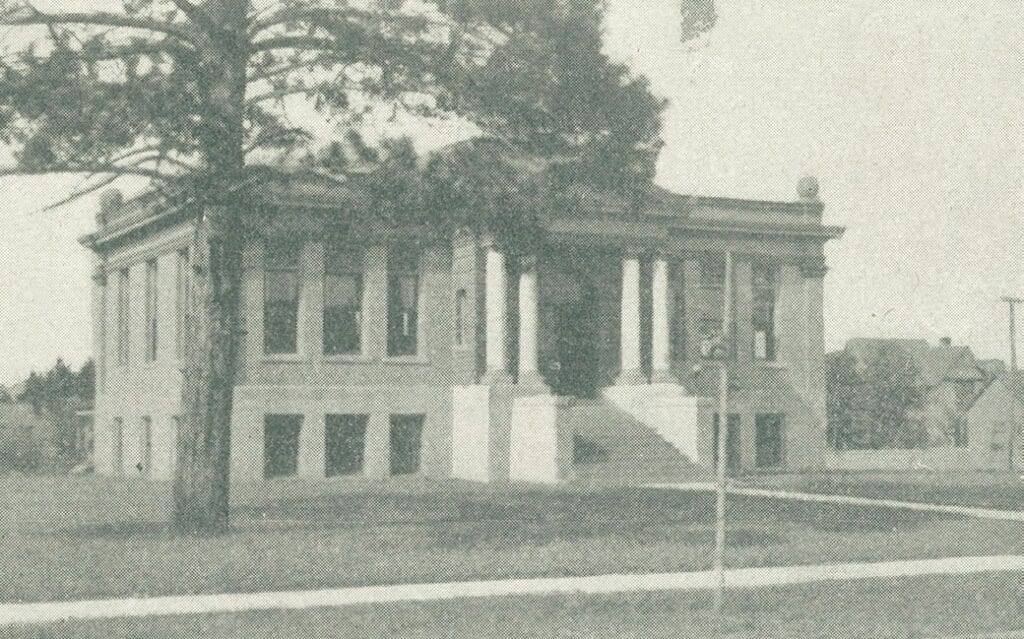 The Grand Rapids Public Library was built in 1905 with funds from steel magnate Andrew Carnegie. The library still stands, albeit in a heavily altered, unrecognizable state.