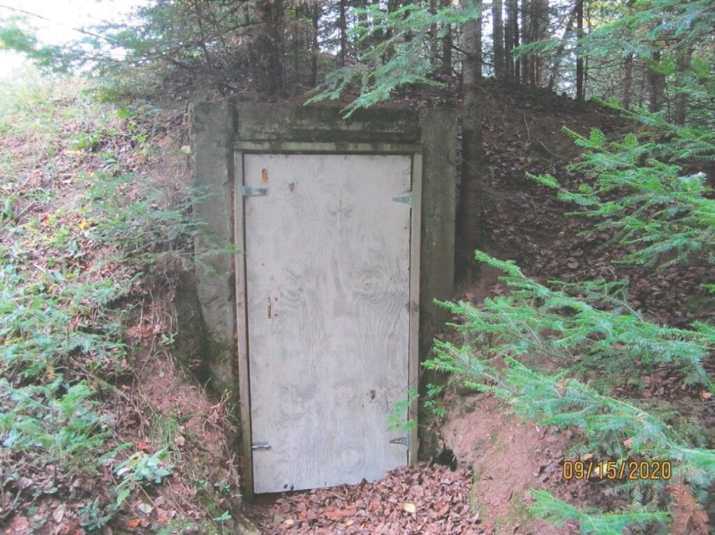 This root cellar on the Lehtonen farm near Virginia was built in the mid-1940s and was used to store milk, meat, and vegetables. Submitted photo.