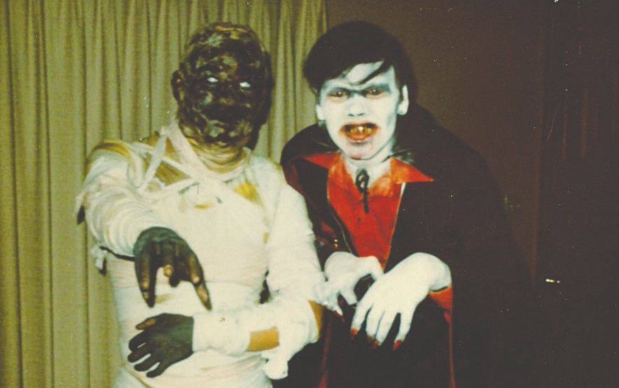 In October 1970, Richard's best friend Mike Mattson joined him as a Scream in the Dark monster. Pictured above, Richard played Dracula and Mike was the Mummy.