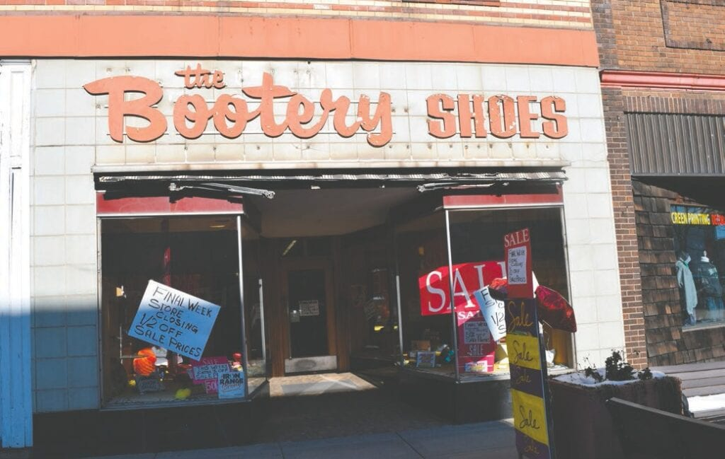 Skoog's Bootery opened at 323 Chestnut St. in Virginia in 1973 and sold its remaining shoes in early November.