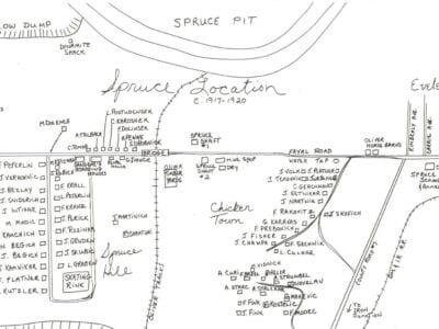 Spruce Location—squatter's land
