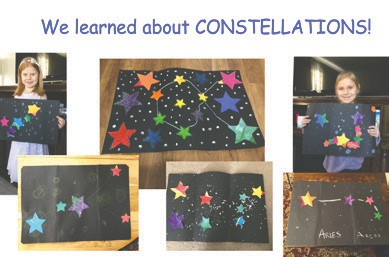 We learned about CONSTELLATIONS!