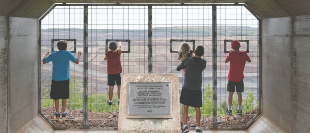 Onlookers enjoy the sweeping views of the recently renovated Mine View in Hibbing. Submitted photo.