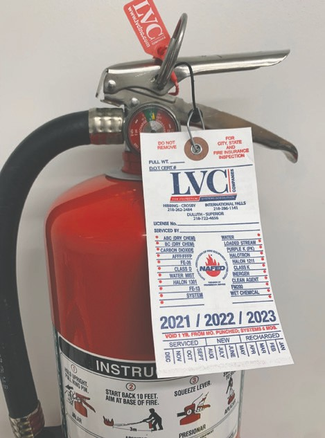 In the backcountry or on the lake, having a portable fire extinguisher, like the one pictured above, could mean the difference between a minor flare-up and a raging inferno. Submitted photos.